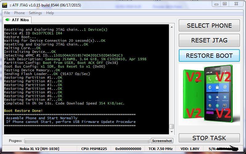 تجارب الأعضاء الناجحة في عمل Repair Boot/Unlock على ATF-BOX iNT JTAG