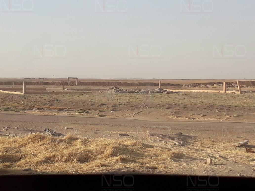 موقع الإرشادية الزراعية في بلدة جزعة بعد تسوية مبنى الإرشادية في الأرض