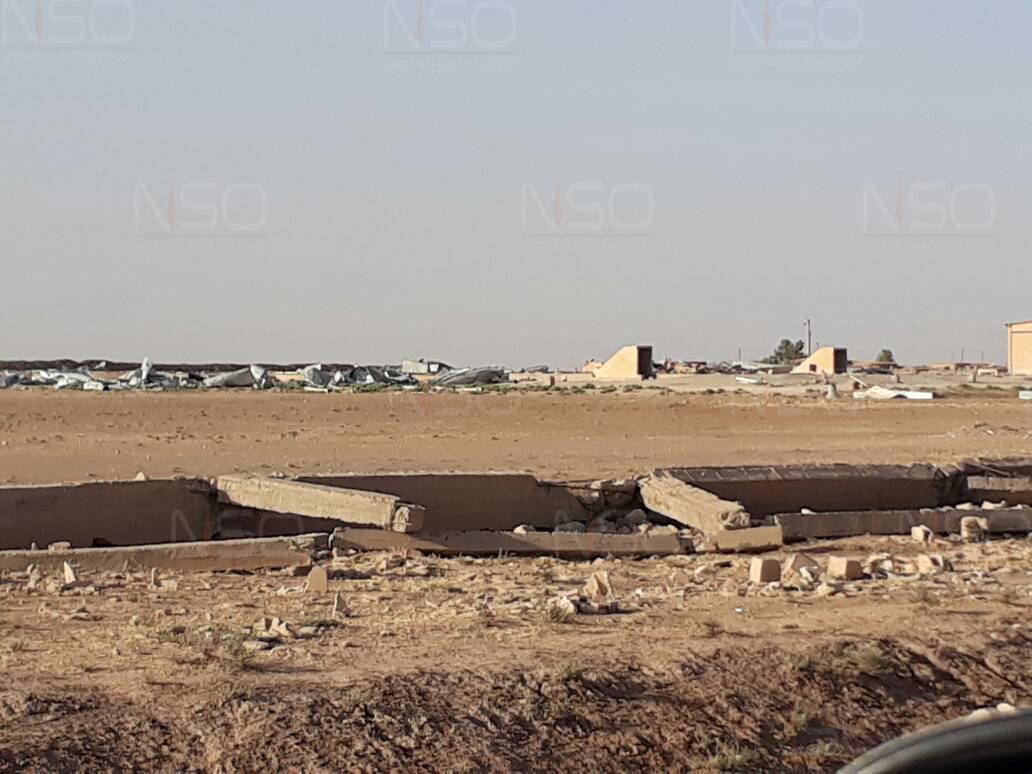 صوامع بلدة جزعة بريف الحسكة الشرقي مسواة في الأرض بعد سيطرة