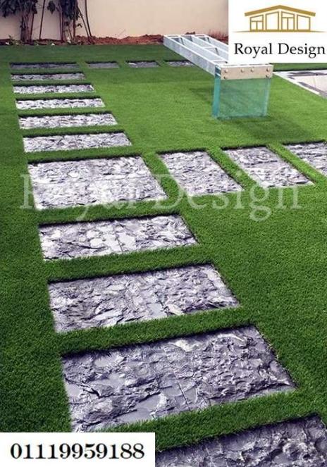 تصميم حدائق فلل - صور تنسيق حدائق 209964489