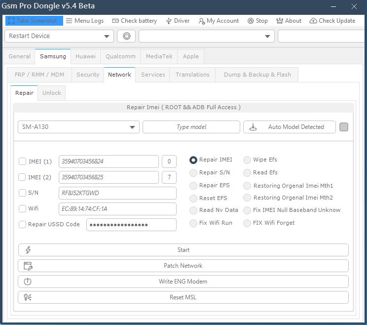 Some Screenshots Gsm Pro Dongle v5.4 - لقطات لجميع اقسام البرنامج